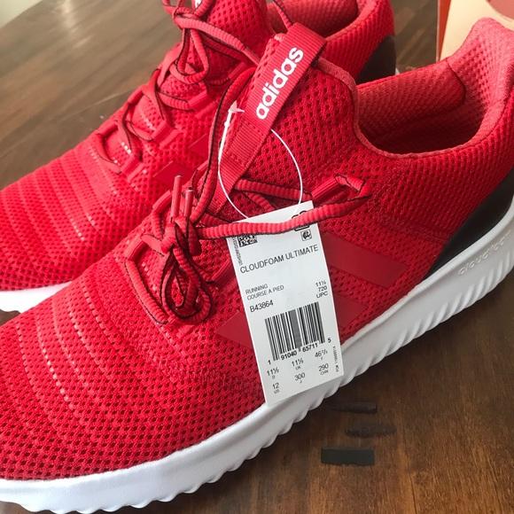 NWT Adidas cloudfoam ultimate red shoe sz 12